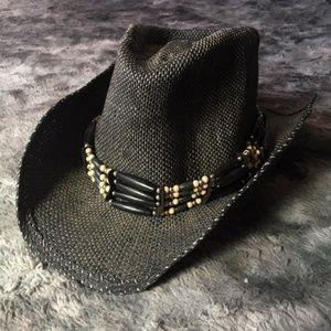 Scala Straw Cowboy Hat